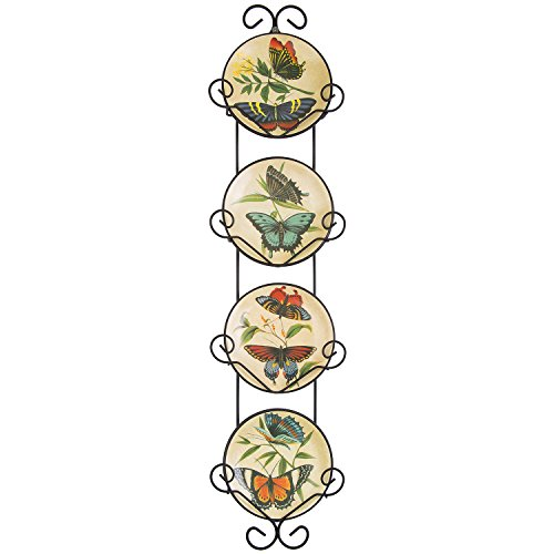 25'' Hanging Decorative Plat With Plates - Butterflies by PLATE RACK