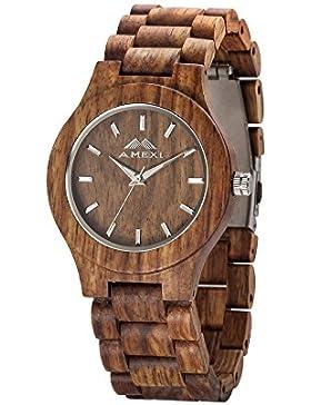 Handgefertigte Holzuhren Unisex Größe Rosewood Uhren mit 23mm Bands Breite Armbanduhren Verpackung In Geschenkboxen