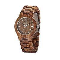 AMEXI Unisex natürliche Birne Blüte Holz-Uhren Quarz analog Uhren Für Sportuhren braun