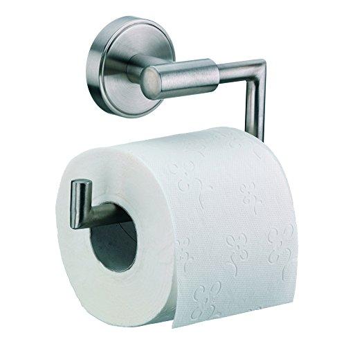 Papier Wand Handtuchhalter Halterung (Kela 21582, WC-Papierhalter für Wandbefestigung, 1 Rolle, Edelstahl 18/10, Marbea, 11cm, Silber Matt)