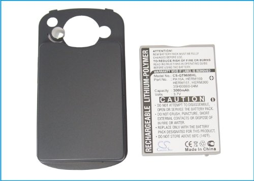 CS-QT9600HL Akku 3000mAh Kompatibel mit [VODAFONE] 1605 VPA Compact III, v1605, [CINGULAR] 6500, 8525, [DOPOD] 838 Pro, 9000, CHT9000, [QTEK] 9600, [NTT DOCOMO] DoCoMo HTC Z, [HTC] Hermes, P4500, TyT - Dopod 838 Pro Htc
