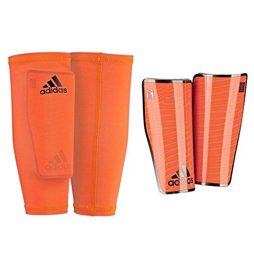 adidas X Pro Lite - Espinillera, color naranja / negro, talla L