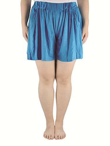 Godet Top (Azue Damen Short Gr. XXXX-Large, blau)