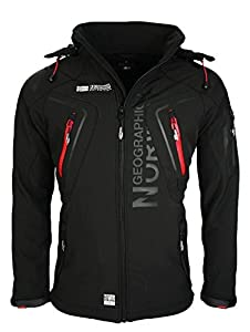 6K3 Geographical Norway Tambour Herren Softshell Jacke Outdoor Schwarz XL