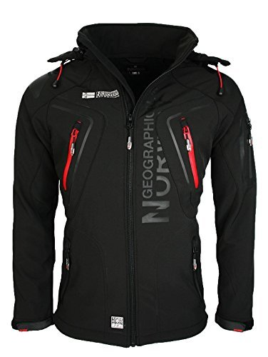Geographical Norway Tambour Herren Softshell Jacke, Schwarz, M Herren Shell Jacken