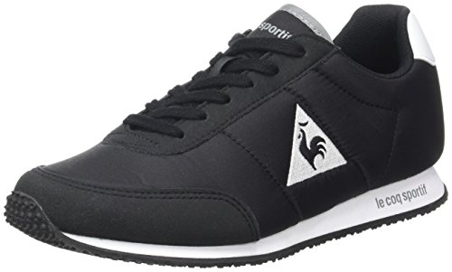 Le Coq Sportif Unisex-Erwachsene Racerone Nylon Trainer Low, Schwarz (Black/Optical White), 37 EU