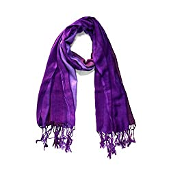 Stylezee Ombre Stripes in Beautifully Blended Colors Shawls & Stole (Purple::Pink)