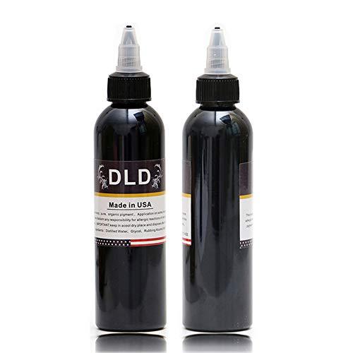 DLD Profi Tattoofarbe - zum Auskleiden und Schattieren von neuestem Tribal Liner Shader Pigment Superschwarz 120 ml hochwertigem Permanent Make-up