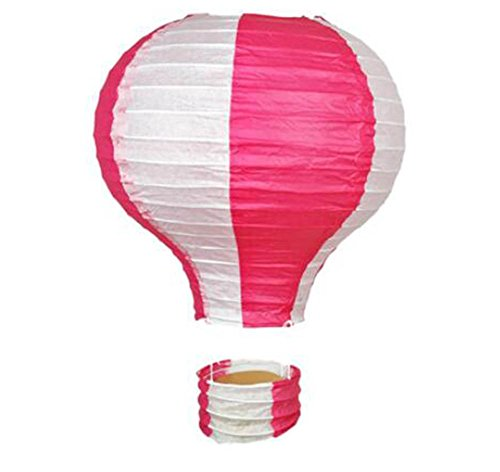 (Black Temptation Geburtstagsparty/Weihnachten/Ostern/Mall Dekoration hängen Papier Laterne Heißluftballon 25cm(Rose))