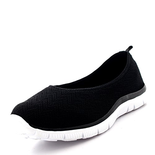 womens-ballerina-fitness-yoga-walking-running-sports-gym-lightweight-mesh-trainers-black-white-uk6-e