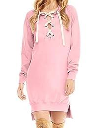 Komise Art- und Weisefrauen-Damen-beiläufiges langes Hülsen-geteiltes langes  Sweatshirt- 3268b04a08