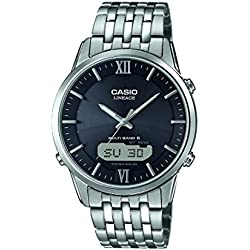 Casio Herren-Armbanduhr Wave Ceptor Analog Digital Quarz Edelstahl LCW-M180D-1AER