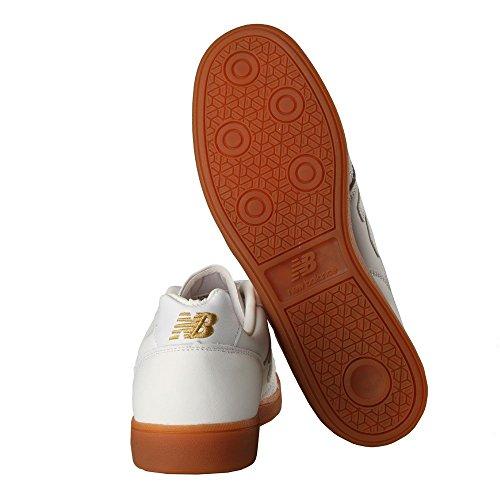 New Balance, Sneaker uomo bianco White White / Gold
