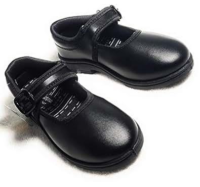 Plasma Light Weight School Shoes for Girls - (Black, 1)