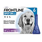 FRONTLINE Spot On Flea & Tick Treatment for Large Dog (20-40kg) 6 Pipettes