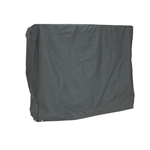 greemotion Schutzhülle für Hollywoodschaukel - Abdeckhaube Gartenschaukel Grau - Schutzhülle aus Polyester - Abdeckung mit Zugband - Wetterschutzhaube für Outdoor-Möbel