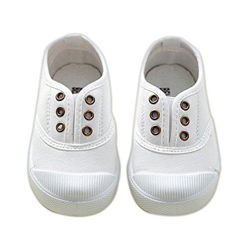 ALUK- Scarpe per bambini Tela s 'piccole scarpe bianche scarpe per bambini Studenti Shoes ( colore : Bianca , dimensioni : 21 )