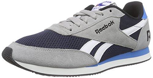 Del Basculador Elétrica Azul Marino Para estaño Hombre Gris Zapatos Gris Azul El Blanco Classic Grau Royal Al Correr Reebok Negro BqgHxnUEtn