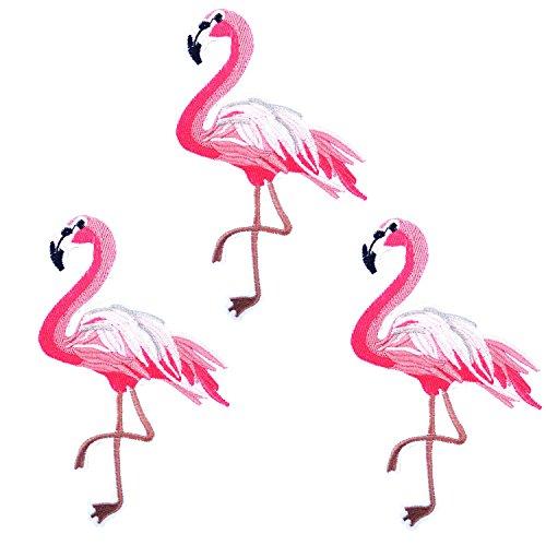 3 Stück Patches Zum Aufbügeln Flamingos Rosa (Stuck-patch)