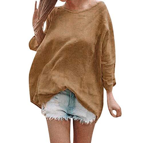 Lose Normallack-Blusen-Oberseiten der Frauen, Art- und Weiserundhals-beiläufige Lange Hülsen-Sweatshirt-T-Shirts für Damen -