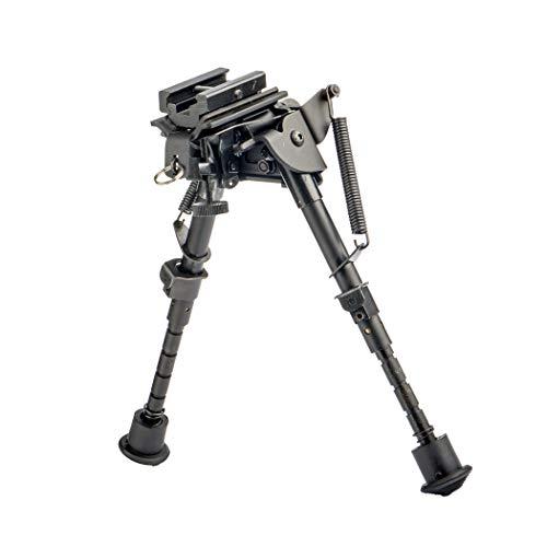FOCUHUNTER Taktische Zweibein 6-9 Inches - Drehzapfen Federspannung Einstellbar für Luftgewehr und Scharfschützengewehr mit Schlinge-Halterung -