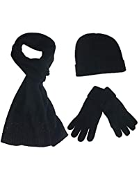 Amazon.fr   Femme - Packs bonnet, écharpe et gants   Accessoires ... 12f3ead4217
