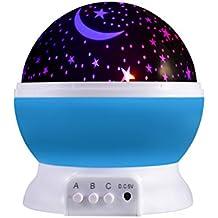 Sternenhimmel Projektor ICOCO 360 Grad 4 LED-Korne Romantische Nacht Lampe Tischlampe drehbar Sterne Projektionslampe für Haus, Schlafzimmer, Kinder Zimmer, Weihnachten, Hochzeit, Geburtstag