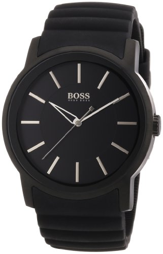 Hugo Boss Herren-Armbanduhr XL Analog Quarz Silikon 1512742