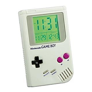 alltoshop Nintendo Game Boy Wecker mit Super Mario Sound - Reisewecker Tischwecker Uhr