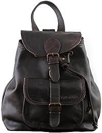 PAUL MARIUS petit sac à dos en cuir couleur Indus' style vintage LE BAROUDEUR