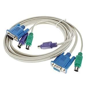 acheter Blanc KVM M / F Cable (1.5M)