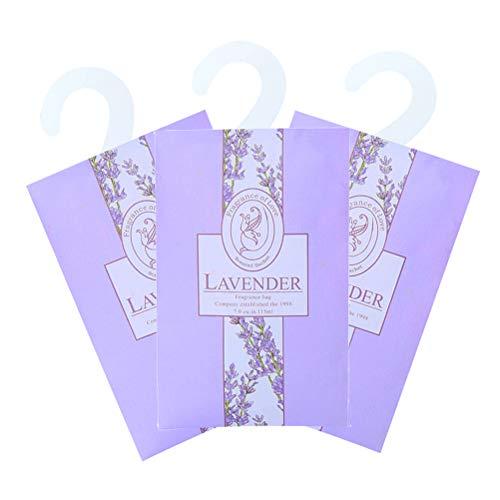 Vosarea 3pcs Duftende Sachets Duftkissen Taschen für Schubladen Schränke und Autos Schöne Frische Duft - Lavendel (Wie Gezeigt) -