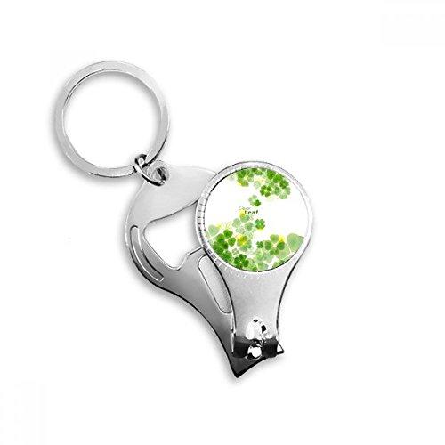Four Leaf Clover Mew Wasserzeichen Irland St. Patrick 's Day Metall Schlüsselanhänger Ring Multifunktions-Nagelknipser Flaschenöffner Auto Schlüsselanhänger Best Charm Geschenk -