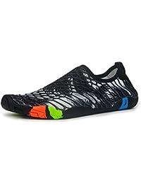 AFFINEST Unisex Zapatos de Agua Deportivos descalzo de Secado Rápido Respirable Piscina Playa Para Hombre Surf Yoga Water Shoes(Negro,42)