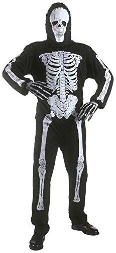 Kinder Kostüm Skelett Anzug und Maske 128