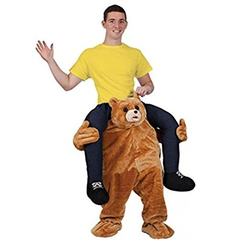 Carry Me Buddy Ride On Shoulder Piggy Back Ride Teddy Bear Costume Mascot Adult