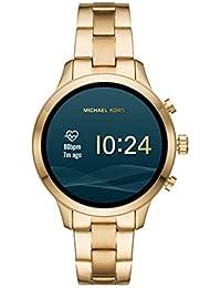 Michael Kors Gen 4 Women's Access Runway Stainless Steel Plated touchscreen Watch Strap, GoldTone, 18 (Model: MKT5045)