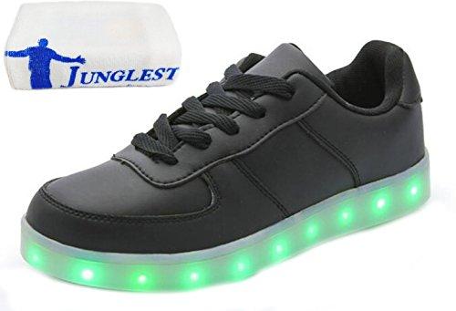 Für 7 Leuchtend Handtuch kleines Schwarz Sportschuhe Aufladen Laufschuhe Led Sneaker junglest present Unis Usb Farbe Turnschuhe Fasching Partyschuhe ztZqxB