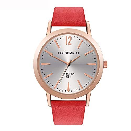 YEARNLY Damen-Armbanduhr Classic Analog Quarz Rostfreier Stahl Schwarz/Blau/Kaffee/Rot