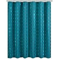 Cortina de la ducha XINGUANG Tela de poliéster Verde Oscuro Impermeable Mildew Engrosamiento Aumentar la línea de Plomo Cortina (Tamaño : 180cm*200cm)