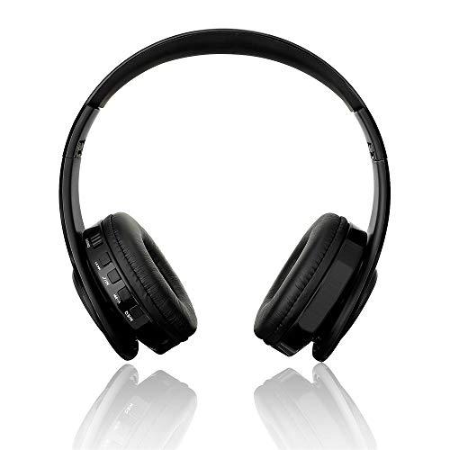 Xshuai Bluetooth Headset Kopfhörer Drahtlose Kopfhörer Stereo Faltbarer Sport MIC Handfree (Schwarz) (Handfree Stereo)
