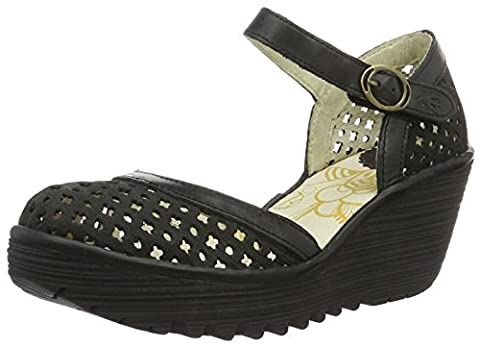 Fly London Damen YADU732FLY Wedge, Schwarz (Black/Black 000), 38 EU