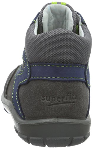 Superfit SOFTTIPPO 700324, Baby Jungen Lauflernschuhe, Blau (OCEAN KOMBI 81) Grau (STONE KOMBI 06)