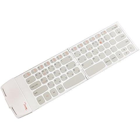 wekey tasca Bluetooth 4.0Wireless pieghevole tastiera bianco–più compatto del mondo. US layout inglese/Coreano Made in Corea