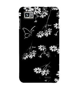 Fuson Designer Back Case Cover for Lenovo K860 :: Lenovo IdeaPhone K860 (White Flowers White Butterfly Flowers Butterfly White)