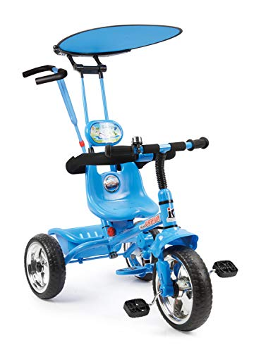 a99a62170c4 Toy House 4 In 1 Luxury Tricycle Blue For Rs. 1484 @ 79% OFF - Deals
