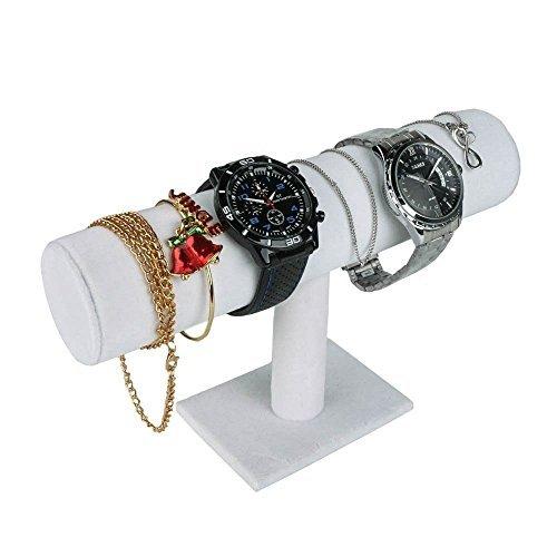 Meshela Schmuckständer Schmuckhalter Armbandständer und Uhrenhalter Uhrenständer(Weiß)