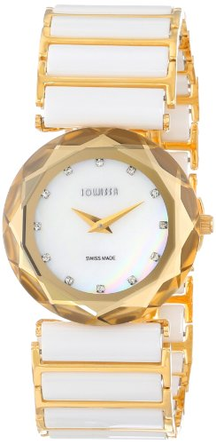 Jowissa Safira 99 Women's Quartz Watch with Mother of Pearl Dial Analogue Display and White Ceramic Bracelet J1.009.M