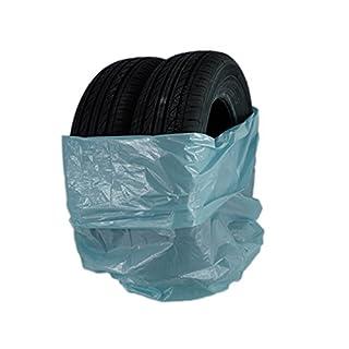Unbekannt 50 x Reifensack blau 1000 x 1000mm / 30 µm/Stix/Sack/Reifen/Reifenpackung/Reifentransport Kunststoff LDPE/Stark / 3 Reifen im Einem Sack/bis 22 Zoll
