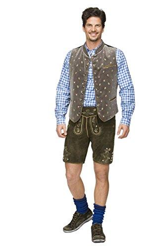 Stockerpoint - Herren Trachten Weste in verschiedenen Farbtönen, Calzado, Größe:50, Farbe:Stein - 2